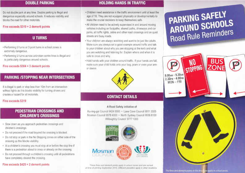 Park Safely Around Schools
